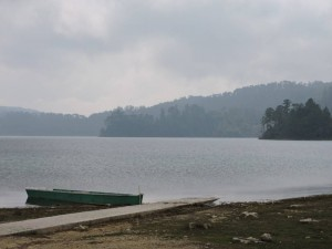 Lake Tziscao in the fog
