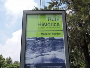 relief map sign