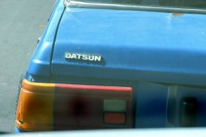 yes! it IS a Datsun; we saw this in San Pedro Sula