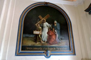 large paintings of the Stations of the Cross