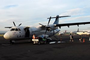 the small plane that took us to the Corn Islands