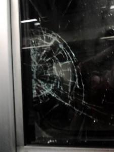 DSC01243 broken train window from falling rock