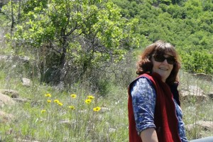 DSC08096 Fran with wildflowers