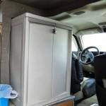 Installed storage cabinet