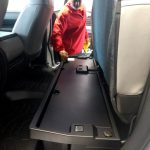 our salesman, Tony, showing us the underseat storage