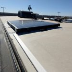 x solar panet Doug installed on the roof