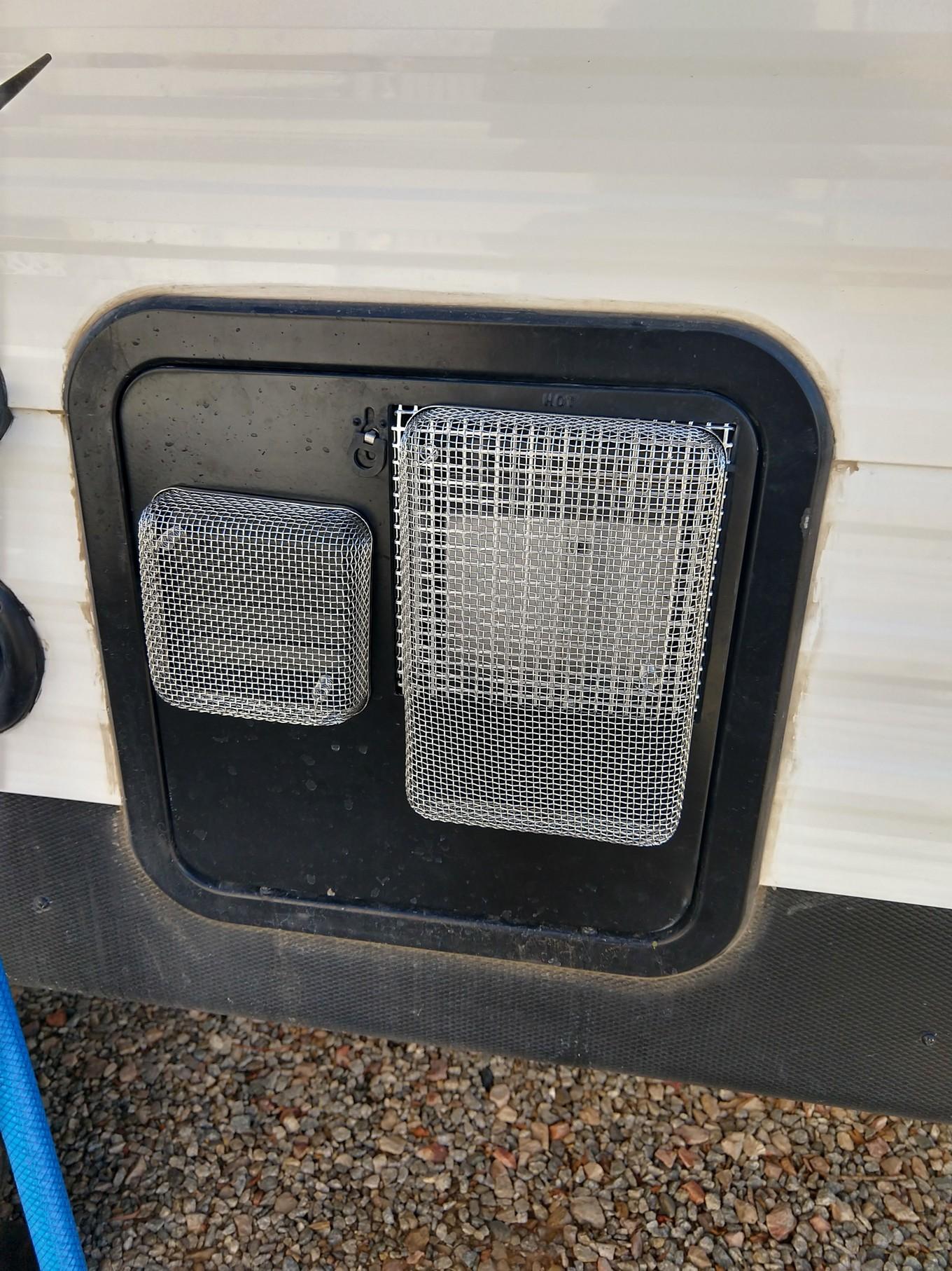 hot water tank screens