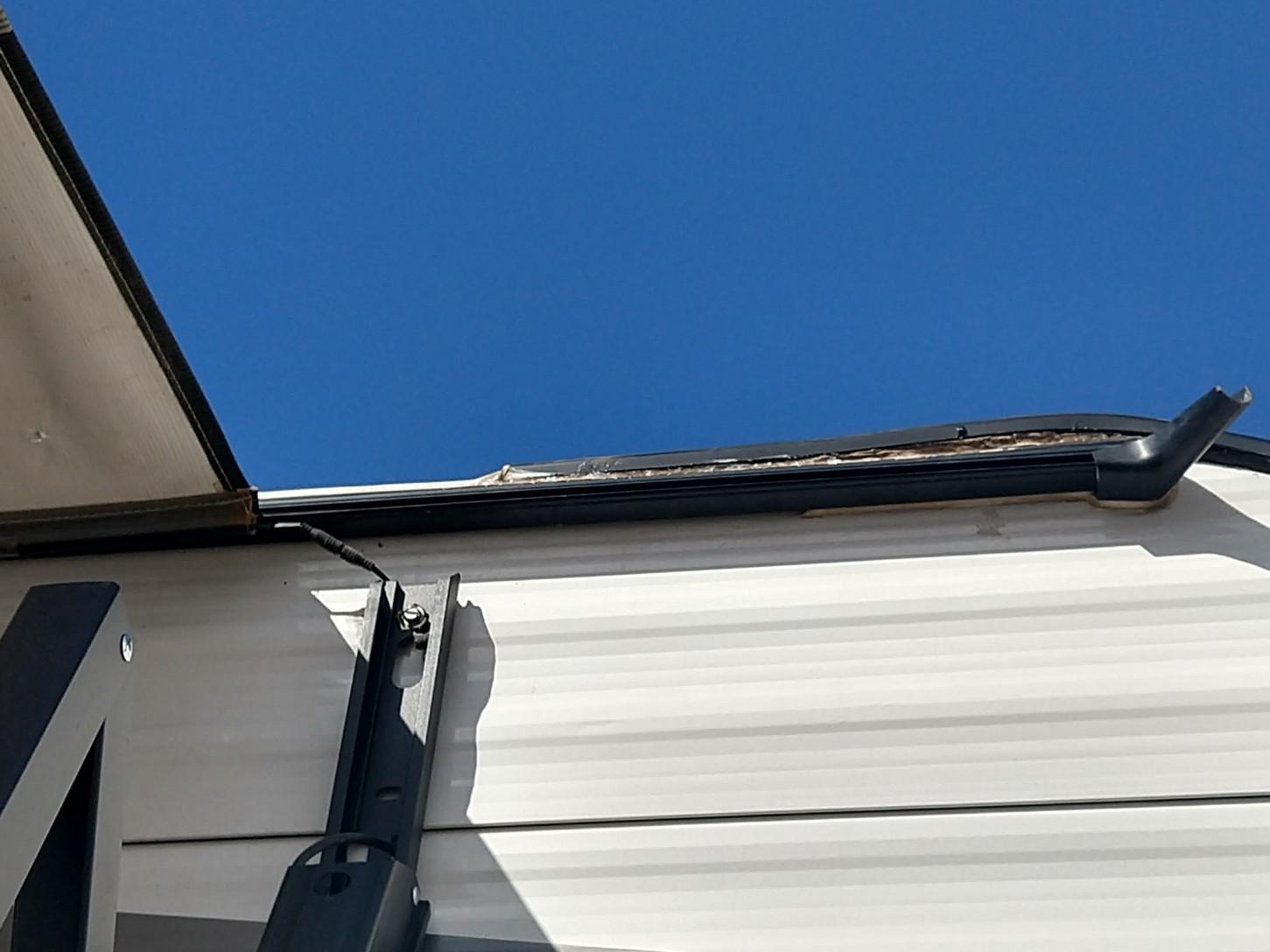 roofline seam replaced