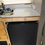 Front of under counter pull out counter